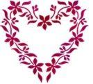Pochoir coeur en fleur pochoir savoie