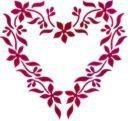 Coeur en fleur