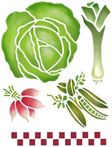 Pochoir cuisine legume salade
