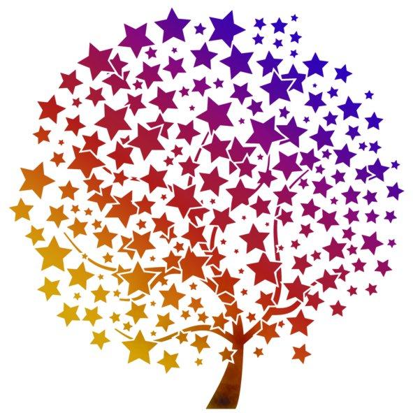 Pochoir de noel etoiles pochoir arbre geant mural mur700254 fl100254 mon artisane