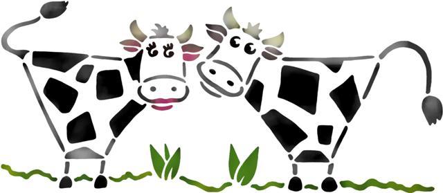 Pochoir de vaches ani4007