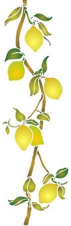 Pochoir frise de citrons cui043 style pochoir mon artisane