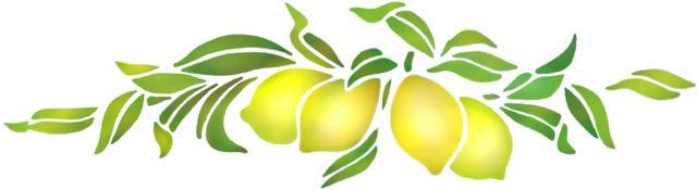 Pochoir frise de citrons pr037 mon artisane