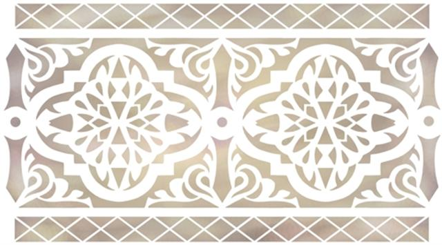 Pochoir frise orientale 89 ori4005 mon artisane style pochoir small