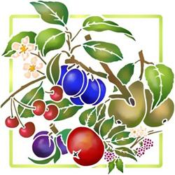 Pochoir fruits cuisine