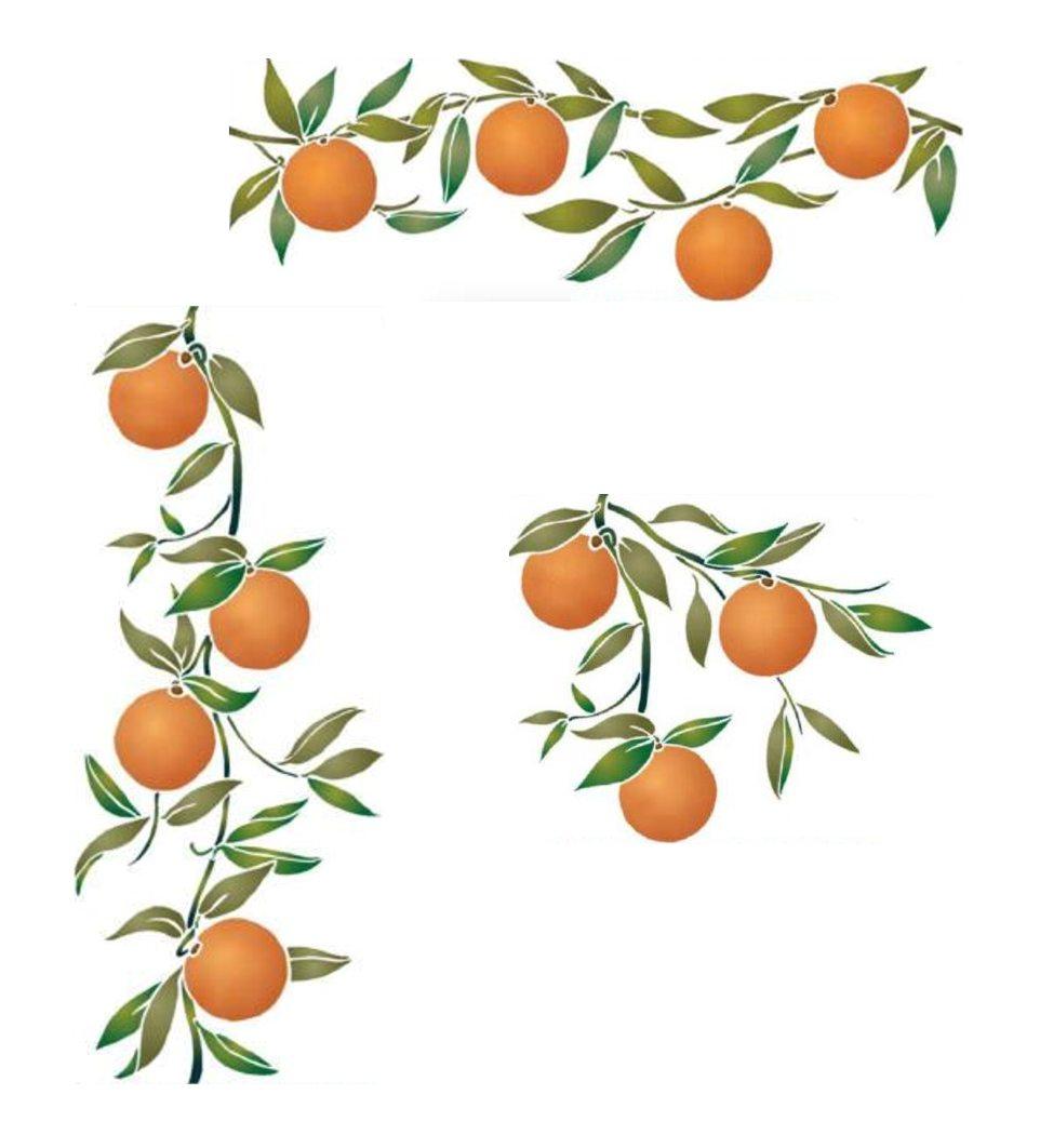 Pochoir kit promo oranges style pochoir mon artisane