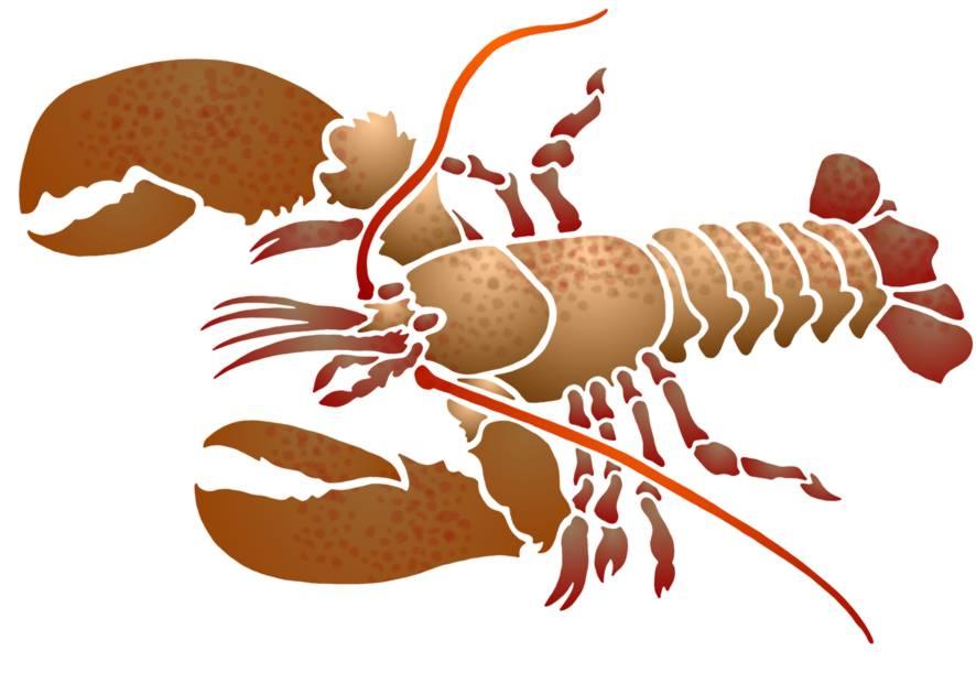 Pochoir langouste homard crustacee a peindre spa051 mon artisane