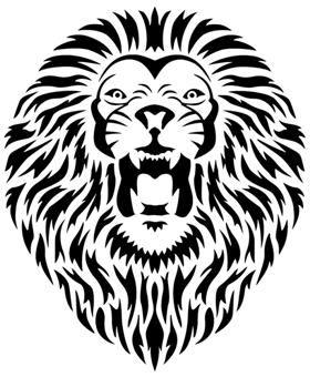 Pochoir lion an702 lion tatoo 14