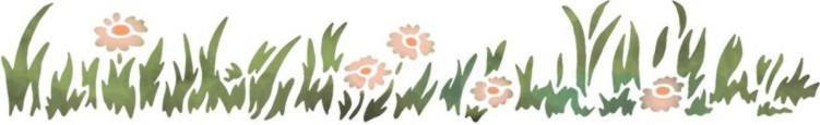 Pochoir lisiere herbe paquerettes spfr103