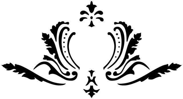 Pochoir motif baroque div6644