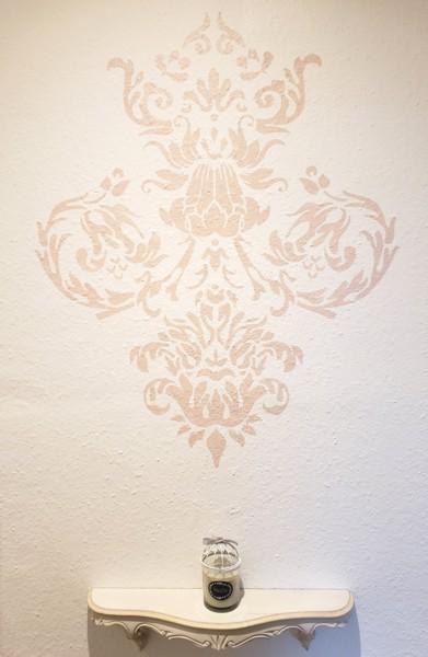 Pochoir motif baroque geraldine