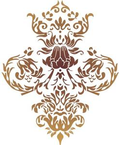 Pochoir motif baroque