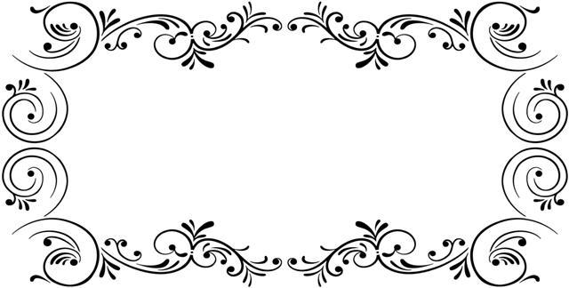 Pochoir motif rectangulaire volutes baroque