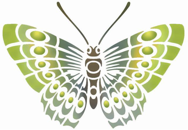 Pochoir papillon stipo88