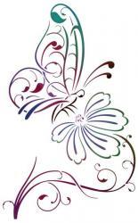 Papillon Fleur design