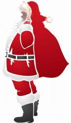Père Noel et sa hotte