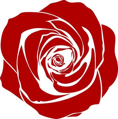Pochoir rose rouge fl13001
