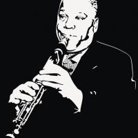 Pochoir sydney bechet trompettiste
