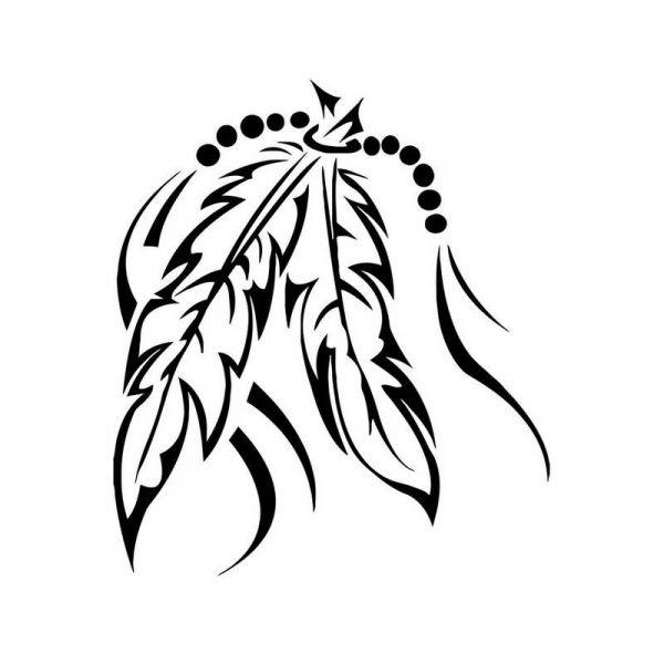 Pochoir tatouage plumes indiennes