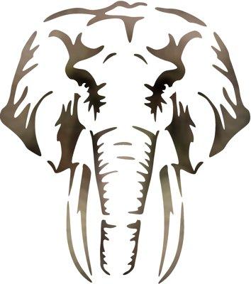 Pochoir tete elephant