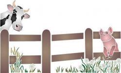 Barrière vache et cochon