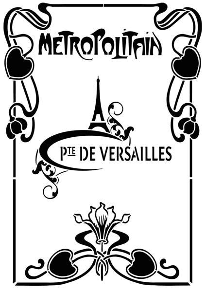 Pochoir vintage metropolitain paris