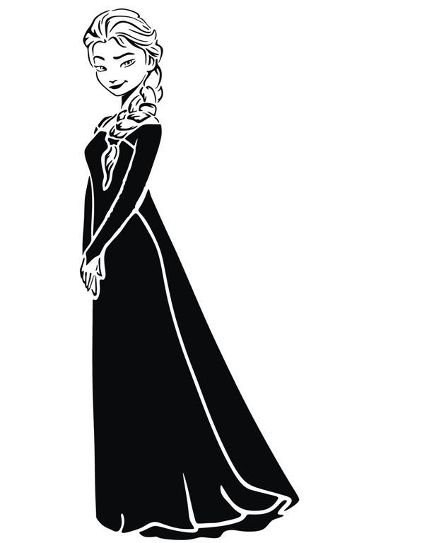 Reine des neiges pochoir