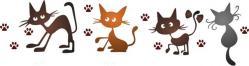 Frise de chats rigolos
