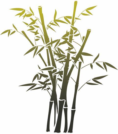 Tiges bambous pochoir mural stipo1412